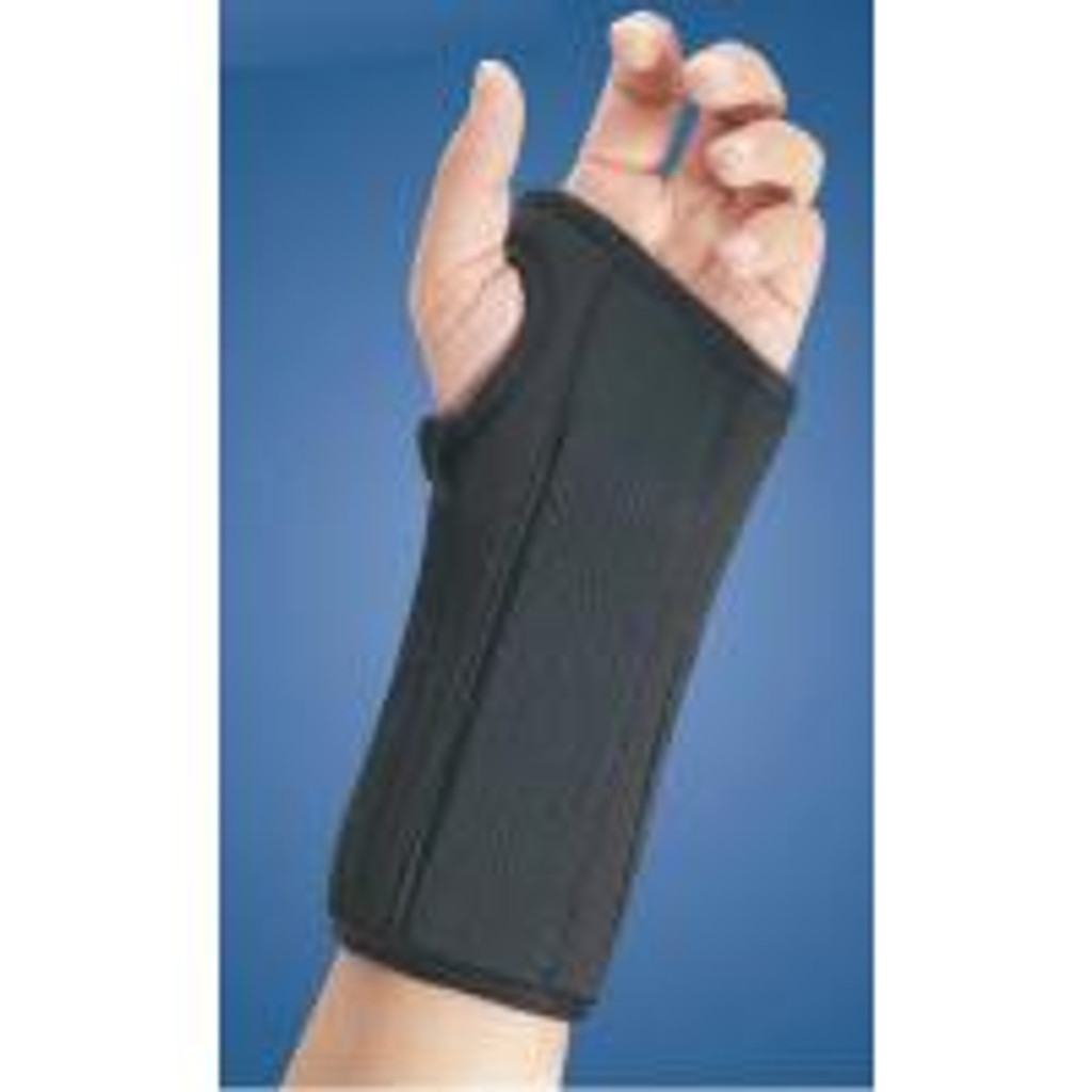 "FLA Pro-Lite 8"" Wrist Splint Black Cock Up Brace"