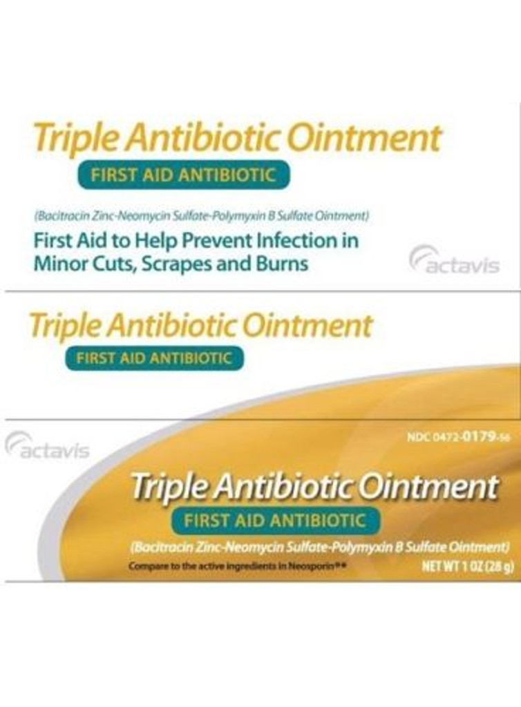 Actavis Triple Antibiotic Ointment 1 oz for Minor Cuts, Scrapes and Burns