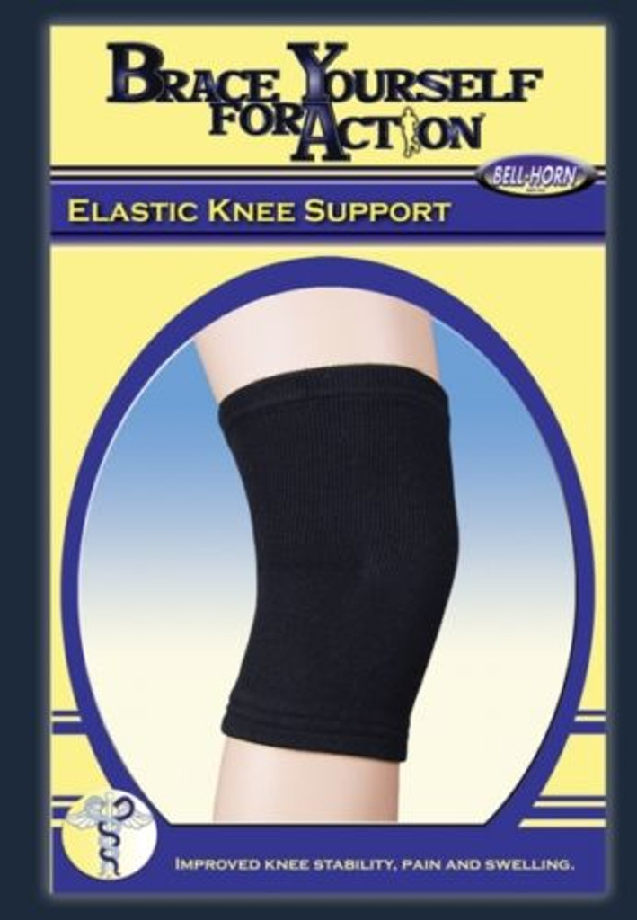 "Bell-Horn Elastic Knee Support Small 12-14"" Black"