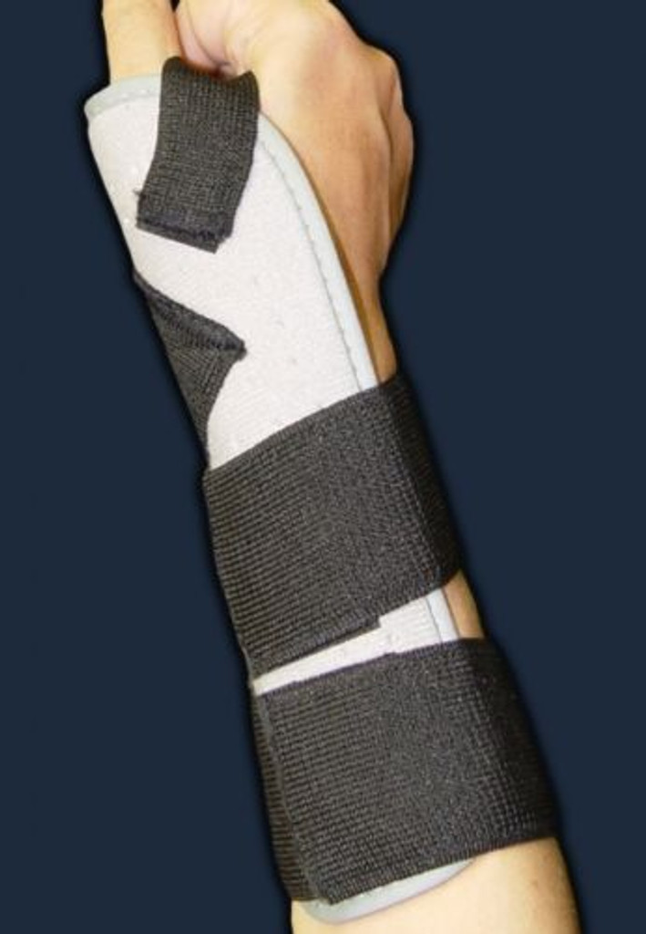Bell-Horn Abducted Thumb Splint, Prevents wrist rotation. Universal to 11.5""