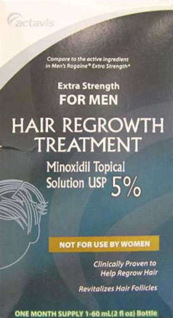 Actavis Hair Regrowth Treatment Minoxidil 5% Mens Solution 60 ml
