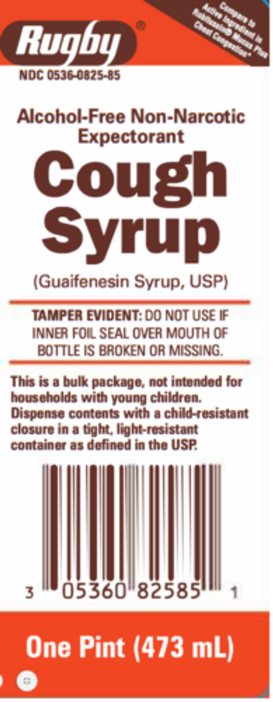 Rugby Cough Syrup Guaifenesin USP 200MG 16 Fl Oz, Alcohol-Free Non-Narcotic