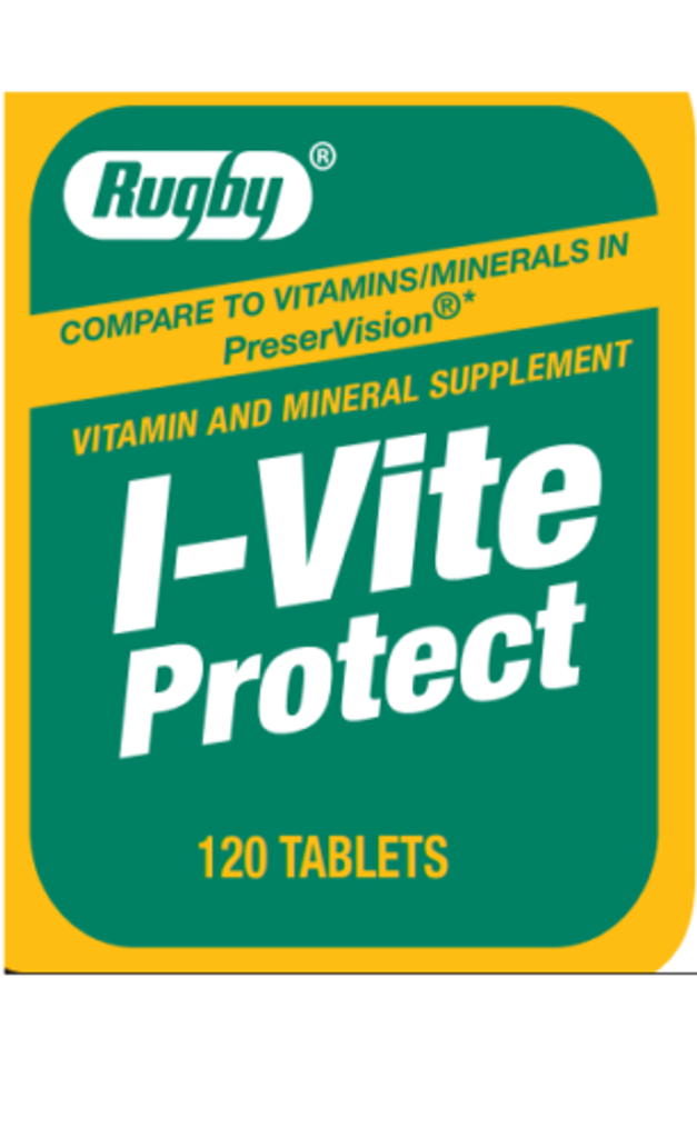Rugby I-Vite Protect Vitamins & Mineral Supplement 120 Tablets