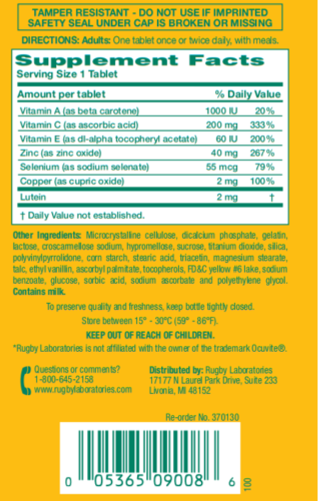 Rugby I-Vite Protect Vitamins & Mineral Supplement, 60 Counts