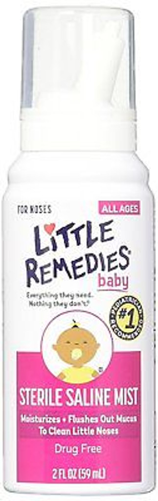 Little Remedies Baby Sterile Saline Mist 2 Ounce