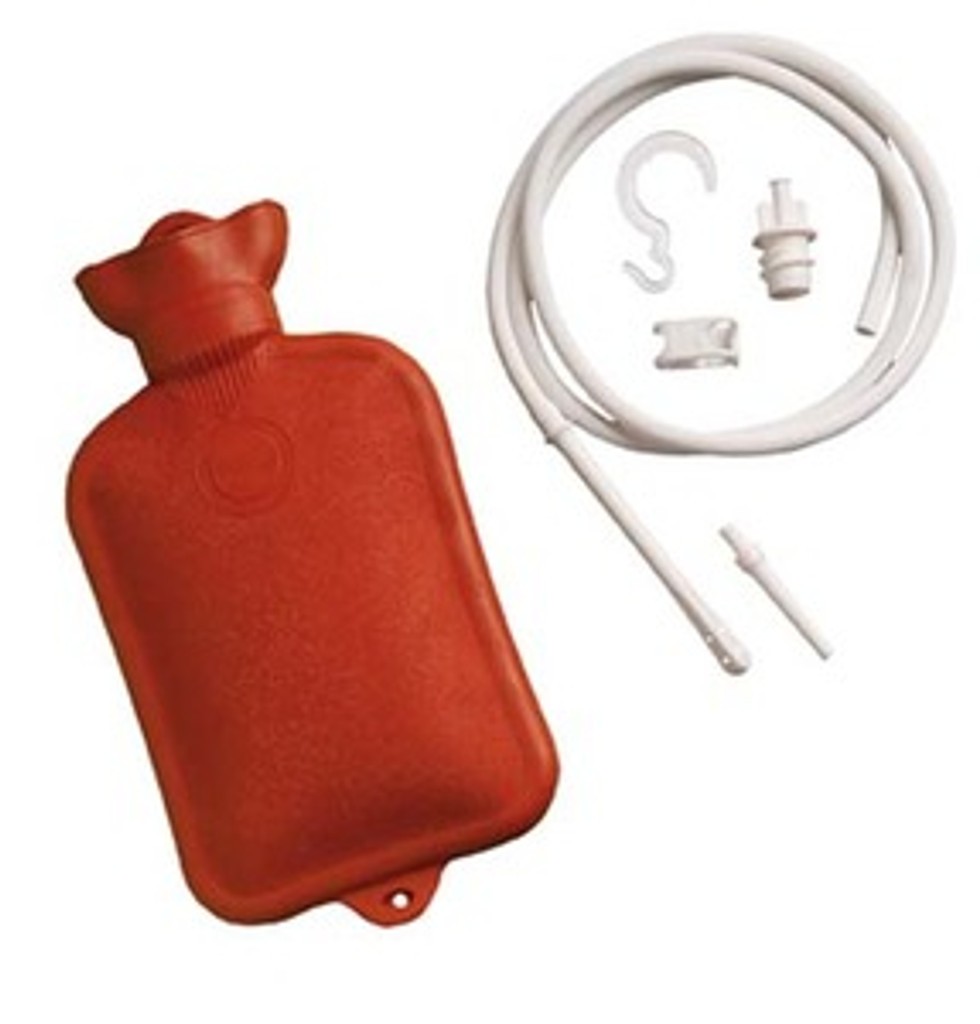 Combination Douche & Enema System with Water Bottle, 2 Quart Capacity