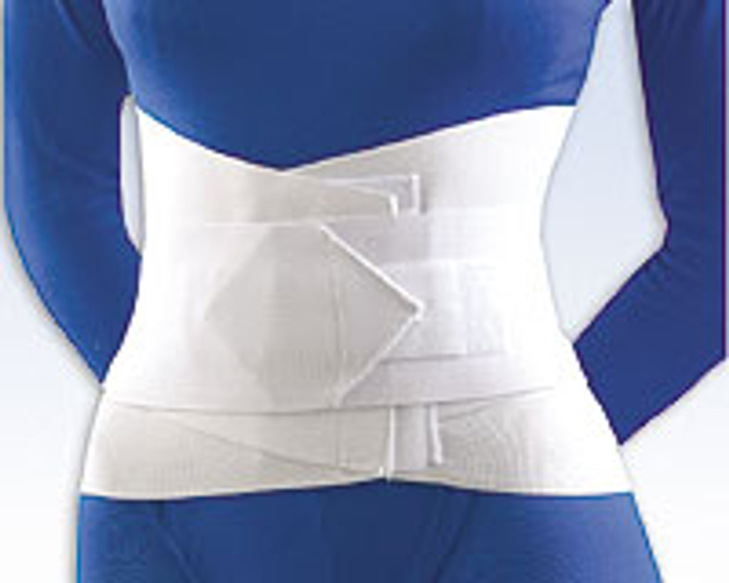 "Lumbar Sacral Support with Overlapping Abdominal Belt 10"" height"