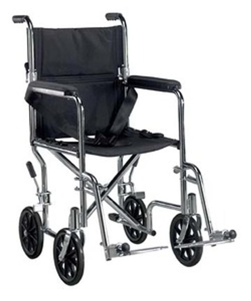 Drive   Deluxe Go-Kart Steel Transport Chair (Chrome)