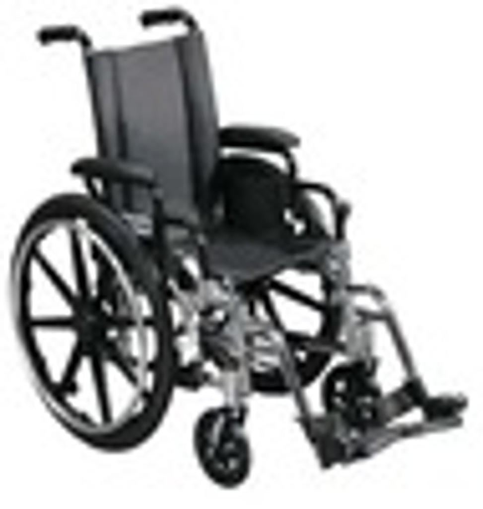 Drive 16'' Viper - Deluxe High Strength, Lightweight, Dual Axle with Adjustable Height Desk Arms and Elevating Legrests