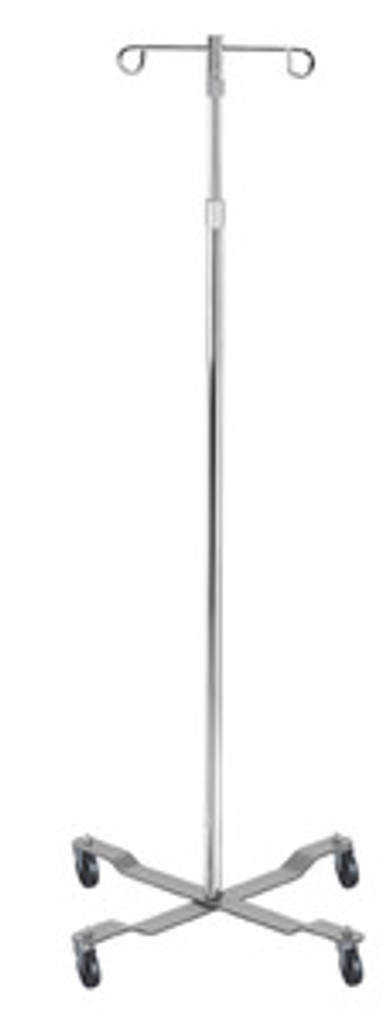 Drive 2 Hook Economy I.V. Pole, 4 Leg with Removable Top