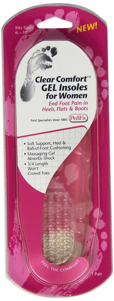 Pedifix Clear Comfort Insoles for Women - 1 pair