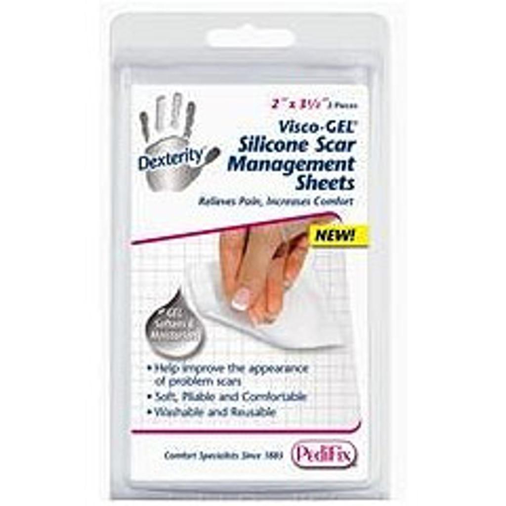 Pedifix Dexterity™ Visco-GEL® Silicone Scar Management Sheets - 2 each