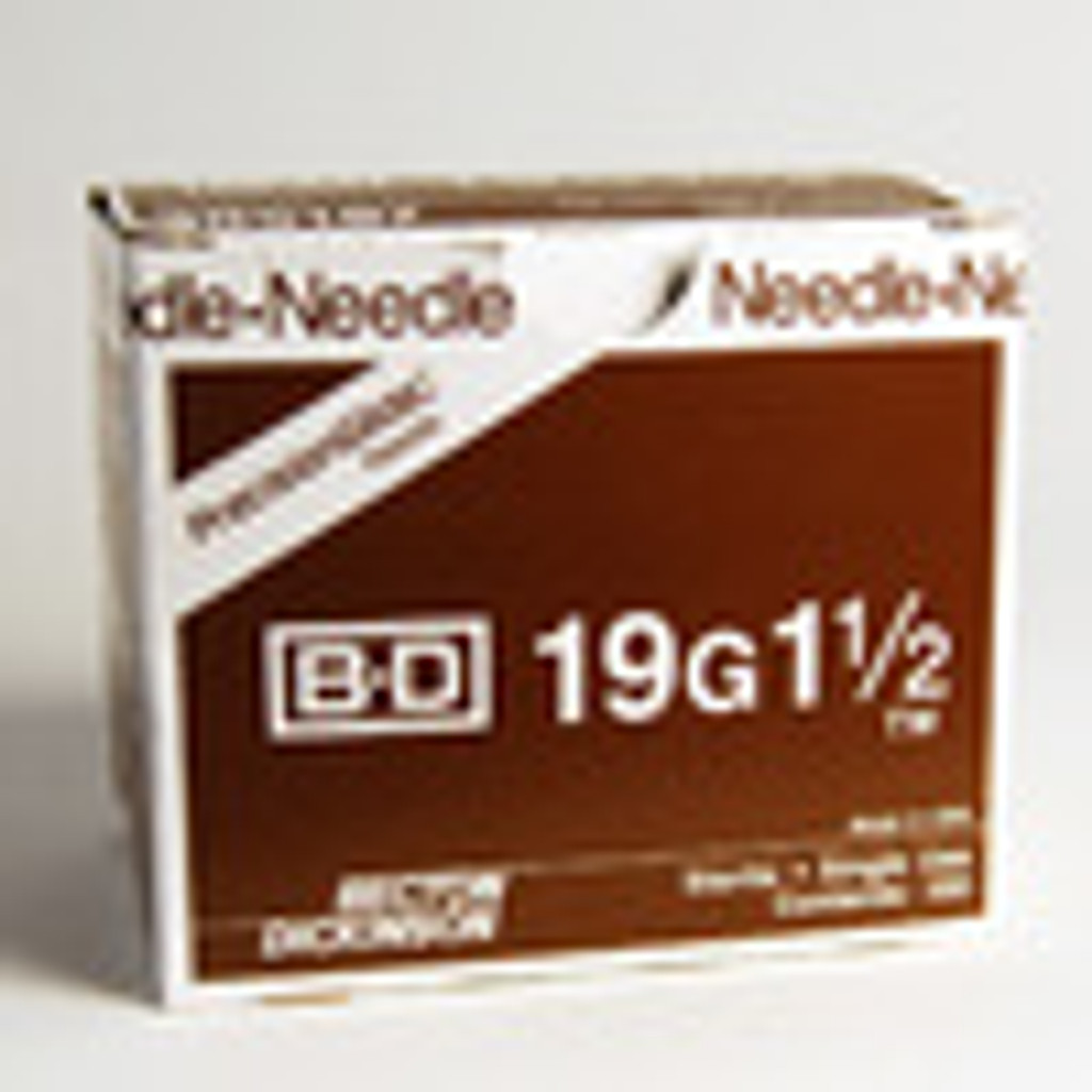 BD Needle Only 19 Gauge 1.5 inch 100/box (10 box case) 305187