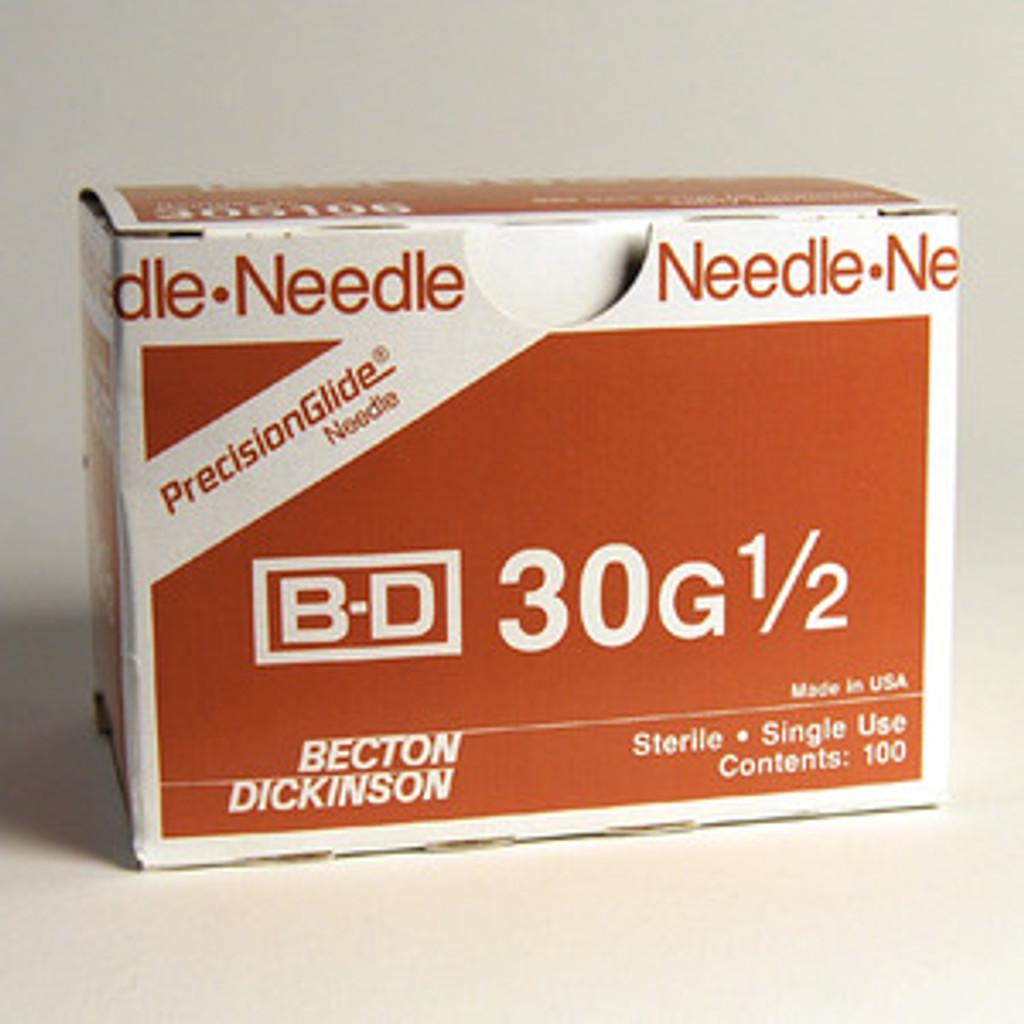 BD Precision Glide Needle 30 G x 1/2  100 ct - (305106)