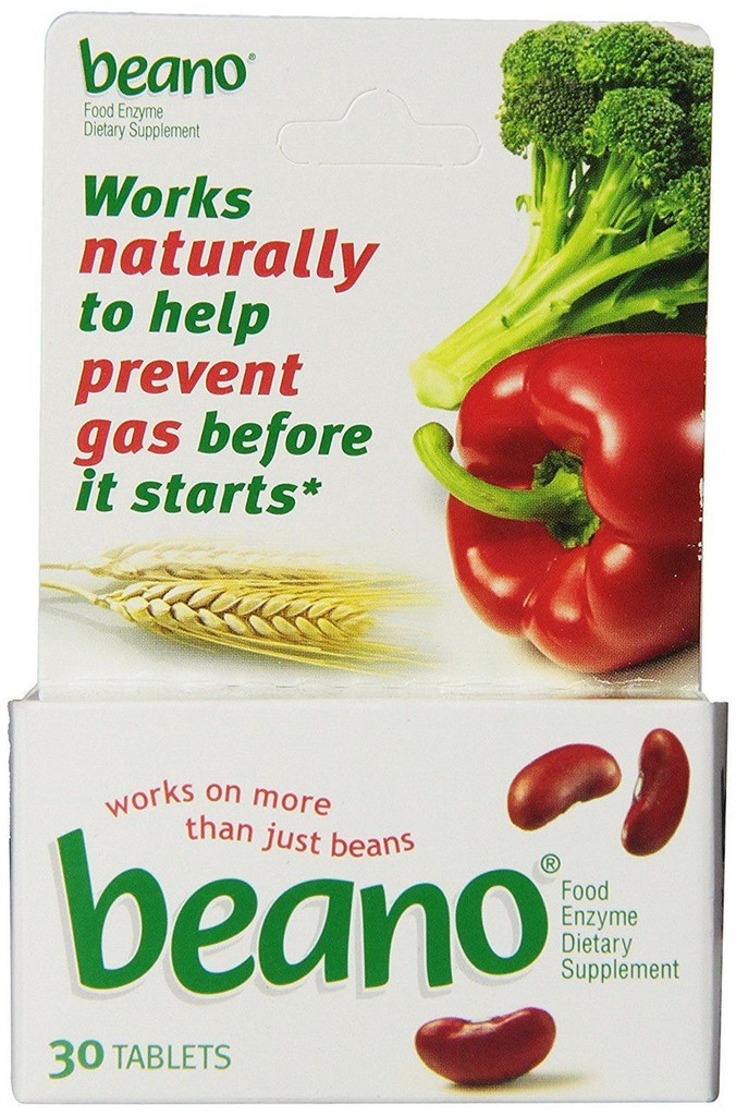Beano Tablets 30 Counts, Works naturally to help prevent gas before it starts