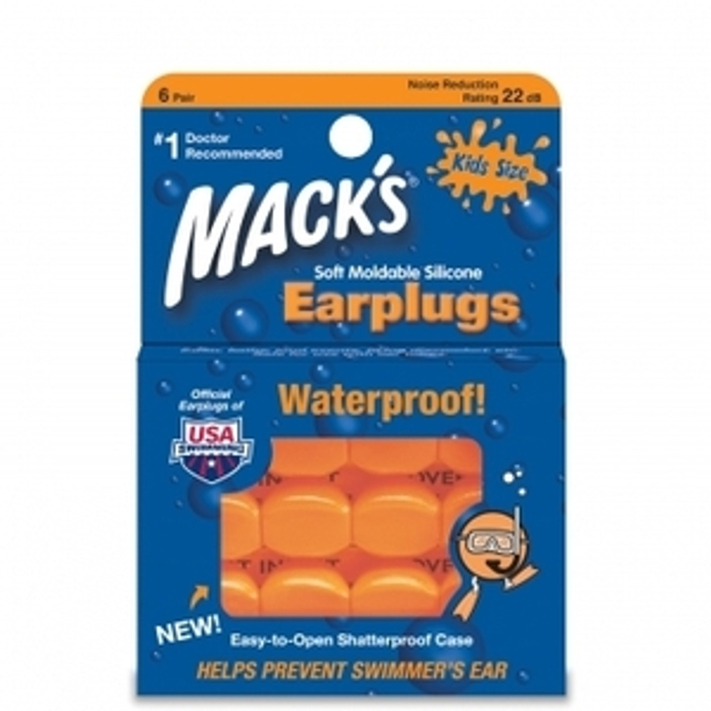 Mack's Soft Silicone Earplugs - Kid's Size