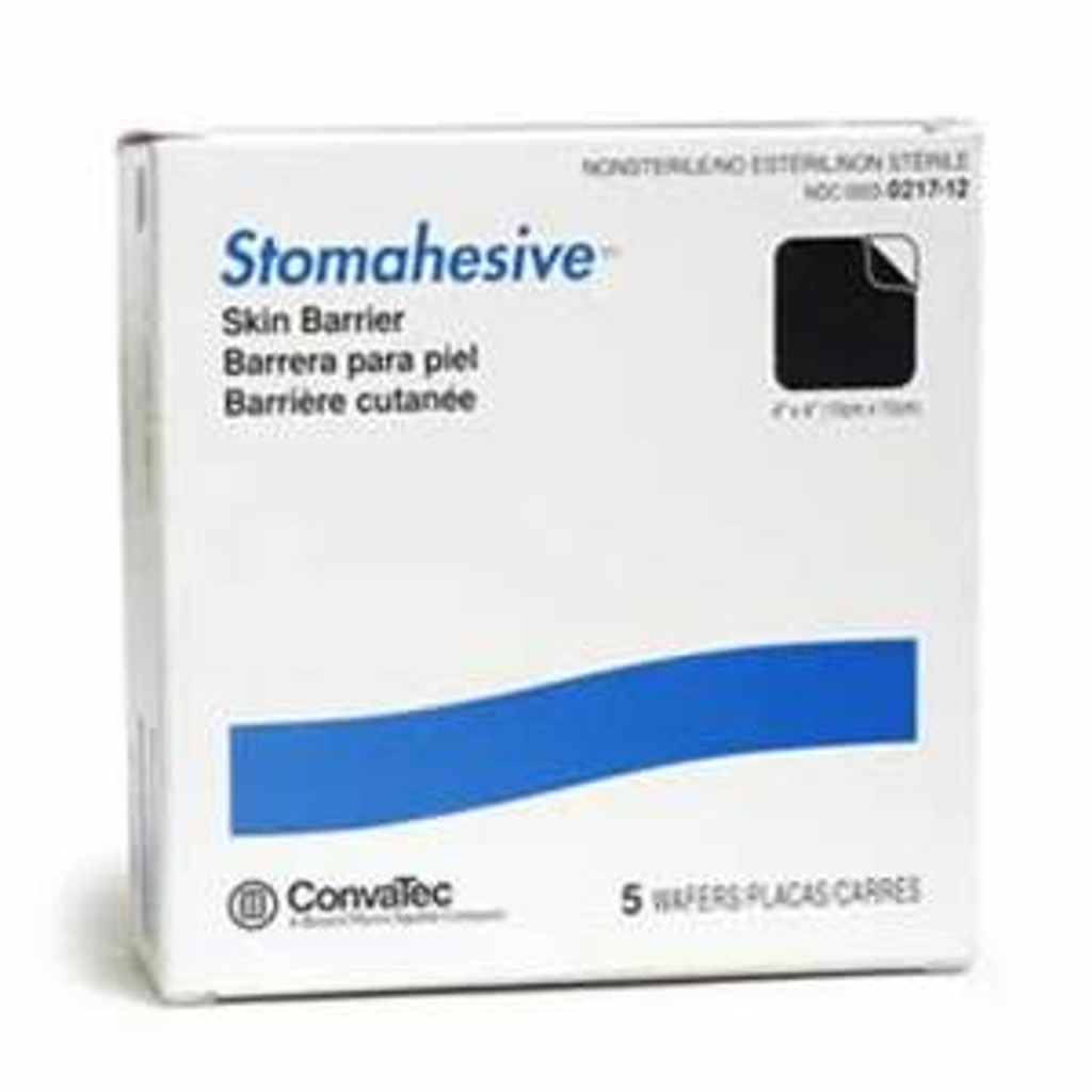 "Convtec 021712 Stomahesive Skin Barrier 4"" x 4"" Wafers 5 per box"