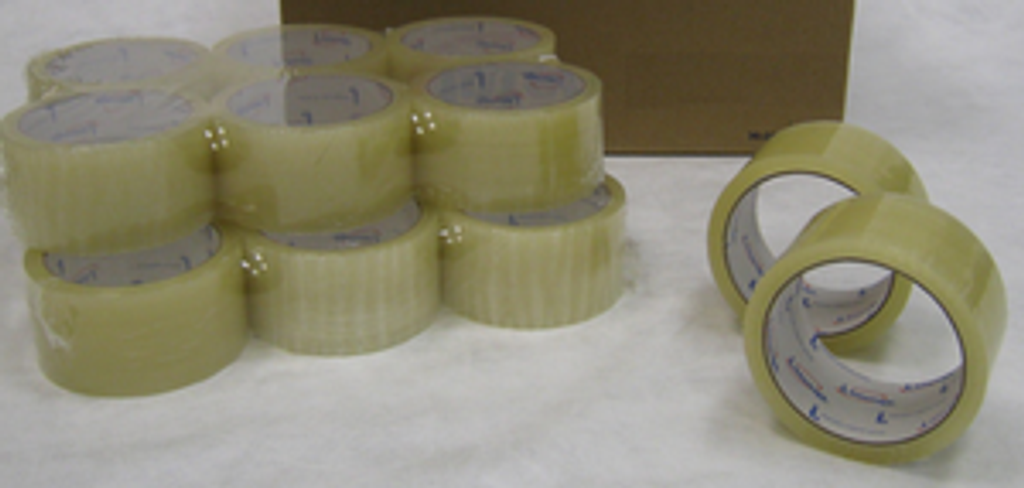 "2"" X 55 YARD CLEAR PACKING TAPE : 36 rolls"