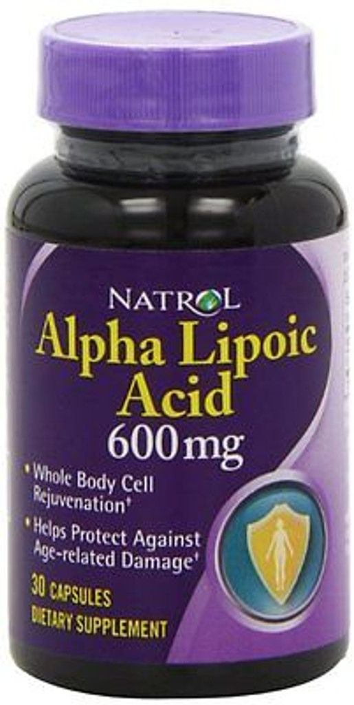 ALPHA LIPOIC ACID CAPSULE 30CT 600MG NAT