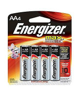 Energizer MAX AA Batteries E91BP4 , Designed to Prevent Damaging Leaks (4 Count)