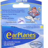 Travel Smart by Conair EarPlanes Adult Flight Ear Protection 1 Pair