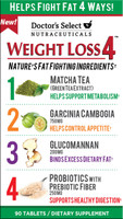 Doctor's Select Nutraceuticals Weight Loss 4 -tablets 90 Counts