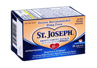 St. Joseph 81 mg Safety Coated Aspirin Pain Reliver 36 Counts