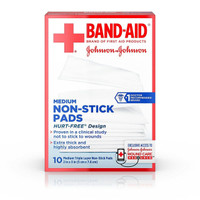 Band-Aid Adhesive Bandages 10 Medium Non-Stick Pads 2 Inch X 3 Inch Pads