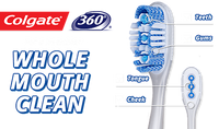 Colgate 360 Toothbrush with Tongue and Cheek Cleaner - Soft