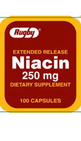 Rugby Extended Release Niacin 250 mg 100 Capsules