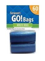 Sergeant's GO Bags Waste Bags Yippee Skippy Pick-Up 4-15ct Refill Rolls 60 Count