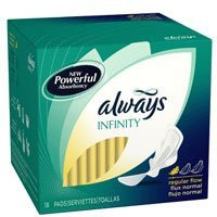 Always Infinity Regular Maxi Pads with Wings- 12 Pack