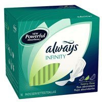 Always Infinity Support Pads with Wings- 12 Packs