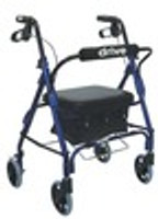 "Drive Junior Aluminum Rollator, Padded Seat, 6"" Casters with Loop Locks"