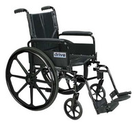 Drive 16'' Cirrus IV - High Strength, Lightweight Dual Axle with Full Arms and Swing Away Footrests