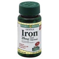 Natures Bounty Gentle Iron 28 mg Capsules 90ct