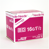 BD Disposable Needle Only 16 Gauge 1 1/2 inch 100/box