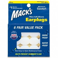 Mack's® Pillow Soft® Earplugs – Value Pack 6 Pair