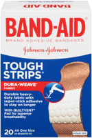 Band-Aid Tough-Strips All One Size Adhesive Bandages 20 Count