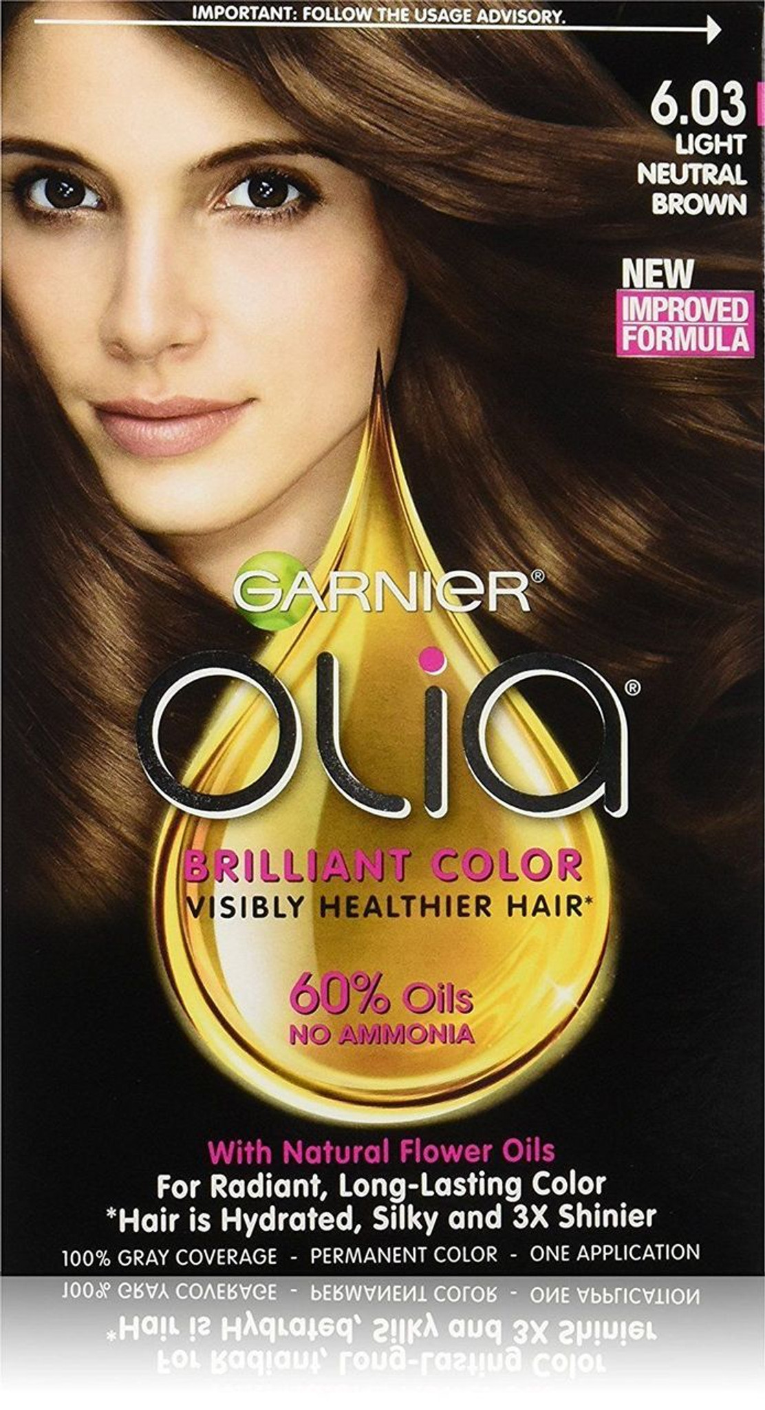 Garnier Hair Color Olia Oil Powered Permanent Color 6.03 Light ...