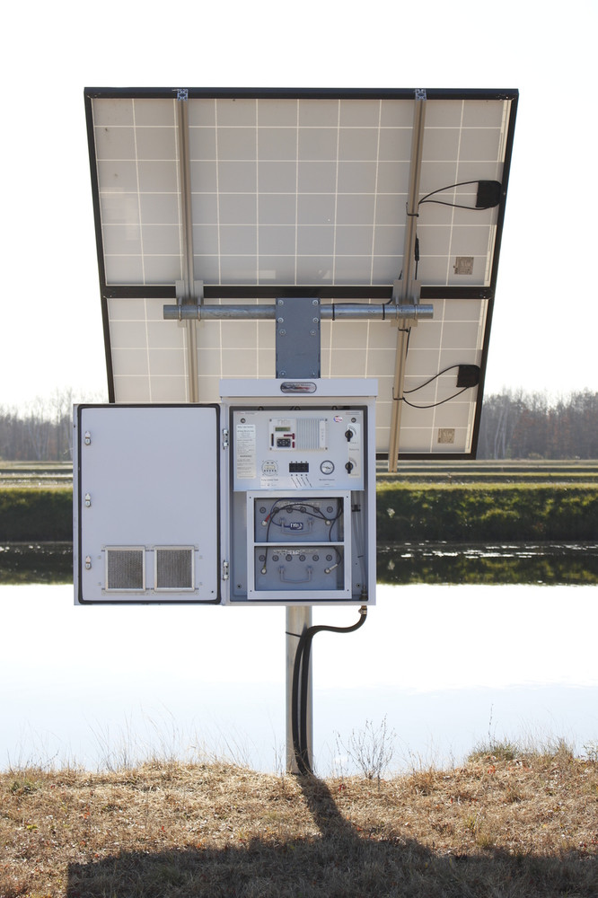 Solar Aeration System with Battery Backup