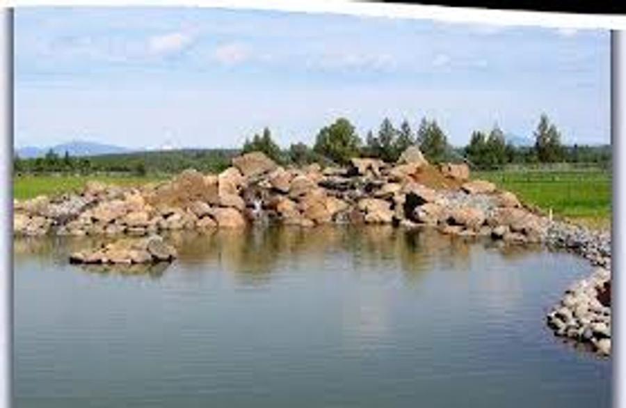 Pond built using RPE Pond Liner material.