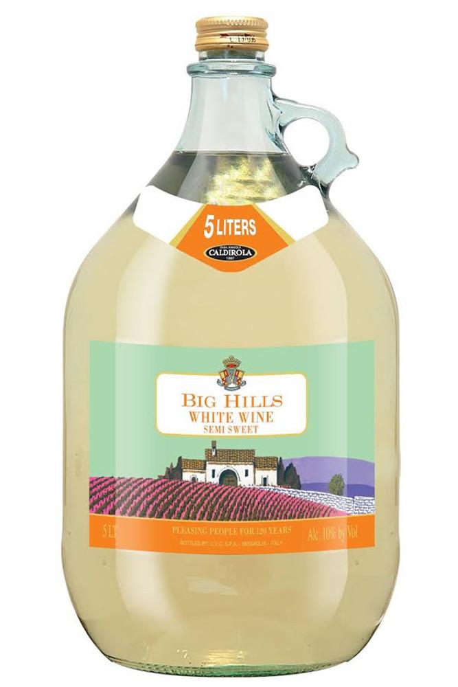 Big Hills Semi Sweet White Wine