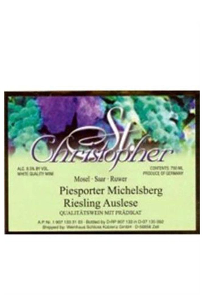 St Christopher Piesporter Michelsberg Riesling Auslese
