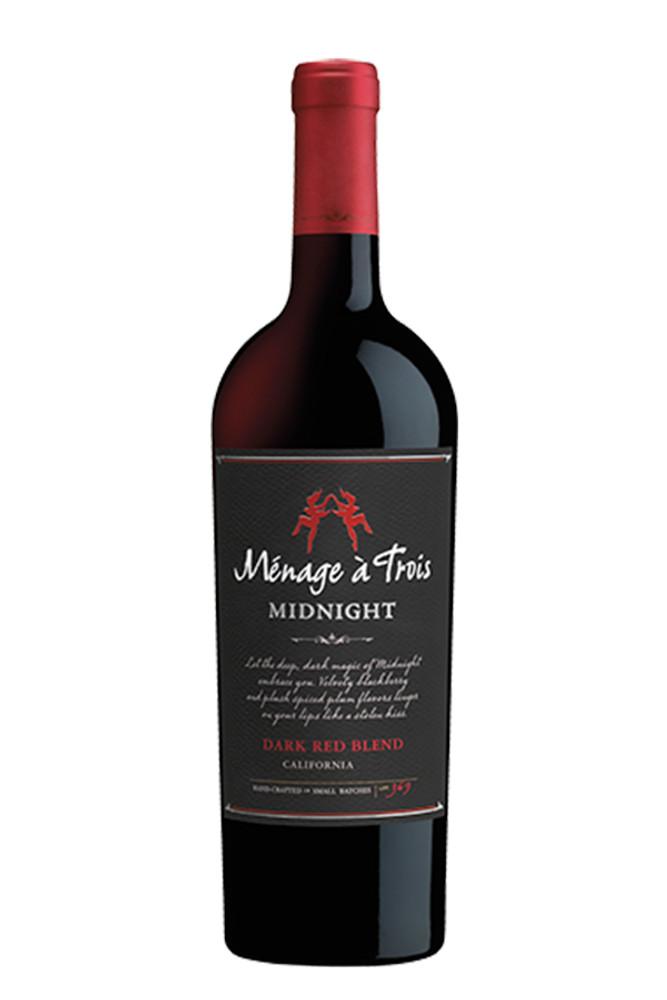 Menage A Trois Midnight Dark Red Blend