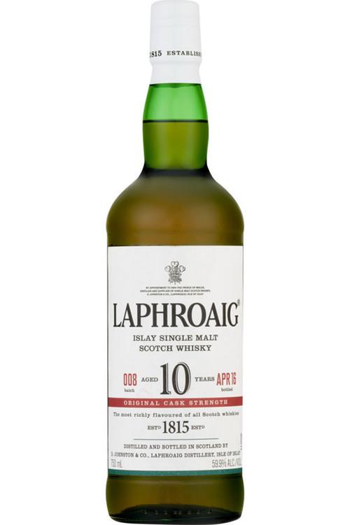 Laphroaig 10 Year Old Cask Strength 750ML