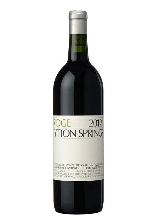 Ridge Vineyards Lytton Springs Zinfandel 2012