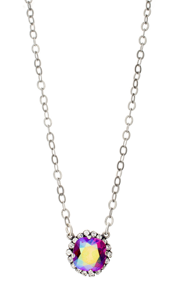 Necklace - 12mm Crystal Wrap - Silvertone