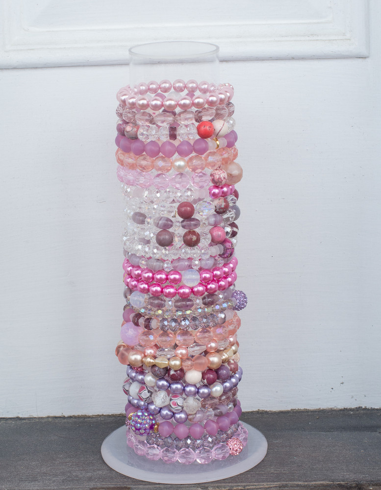 Stack Bracelets-Set of 4-Pinks
