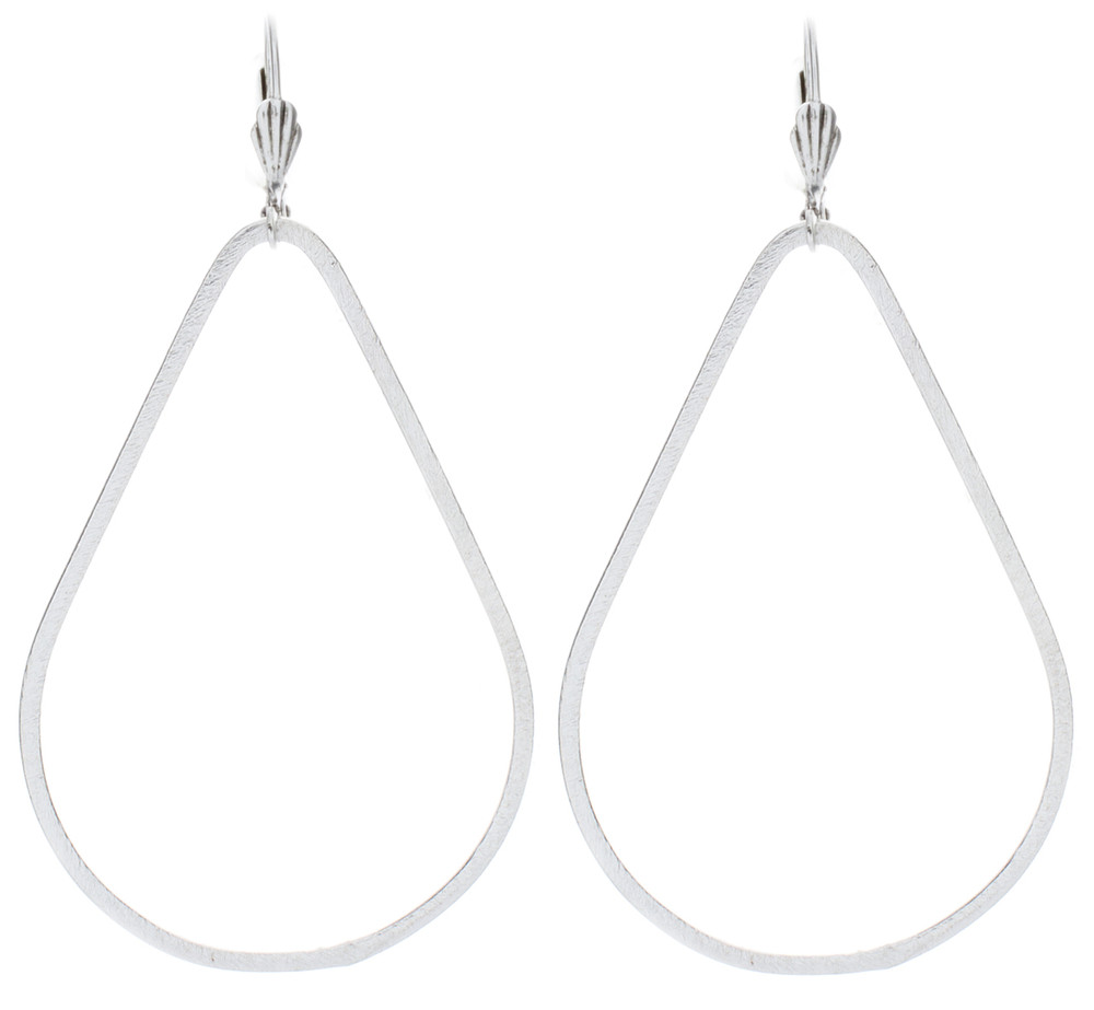 Pear Earrings - Silver